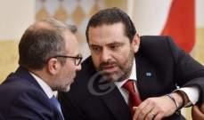 مصادر مطلعة على لقاء الحريري- باسيل للجمهورية: التسوية ليست بخير