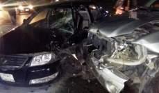 الدفاع المدني: ثلاثة جرحى إثر حادث سير بين ثلاث سيارات في السمقانية