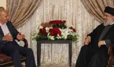 بري التقى نصرالله وبحث معه الأوضاع العامة وما يجري على ساحة فلسطين