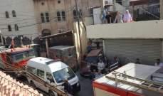 النشرة: حريق كبير في ارض بمنطقة البركسات في محلة الفيلات في صيدا