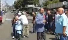 اعتصام في باب التبانة احتجاجاً على قطع المياه عن المنطقة منذ عدة ايام