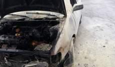 الدفاع المدني: إخماد حريق شب داخل سيارة في عاليه والاضرار مادية