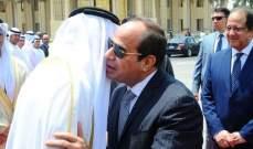 الرئاسة المصرية: السيسي سيلتتقي اليوم ولي عهد أبوظبي