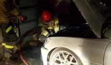 الدفاع المدني: إخماد حريق داخل سيارة على أوتوستراد المدينة الرياضية- بيروت