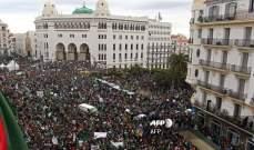 أ.ف.ب: حشود ضخمة في شوارع وسط العاصمة الجزائرية