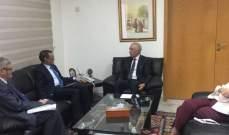 زعيتر التقى ولد أحمد وتأكيد على اهمية التنسيق ووحدة الموقف