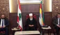 الشيخ حسن التقى الريس وعرض معه مختلف التطورات العامة