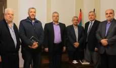 أسامة سعد التقى وفداً من المؤتمر الشعبي لفلسطينيي الخارج