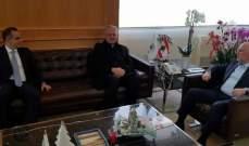 """فنيانوس التقى رئيس مؤسسة """"لابورا"""" واطلع منه على امكانيات المؤسسة"""