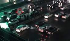 التحكم المروري: حادث تصادم على اوتوستراد جل الديب وحركة المرور كثيفة