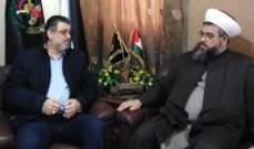 العينا بحث مع الشيخ العيلاني الشأنين اللبناني والفلسطيني في لبنان
