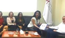 أوغاسابيان التقى وفدا من الاتحاد اللبناني لسيدات الأعمال والمهن