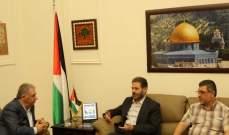 دبور يلتقي قيادة الجهاد الاسلامي في لبنان  التقى سفير دولة فلسطين