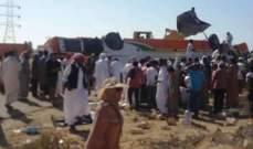 مقتل 12 شخصا وإصابة 29 آخرين بانقلاب حافلة سياحية على طريق الضبعة غربي مصر