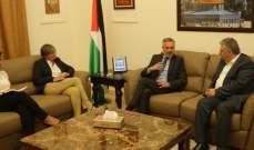 دبور يلتقي رئيس البعثة الدولية للصليب الاحمر وبشور