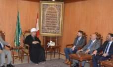 قبلان التقى تيمور جنبلاط: على اللبنانيين ان يتعاونوا لحفظ بلدهم