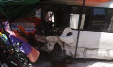 النشرة: قتيل وجريحان بحادث سير مروع على طريق عام دير الزهراني
