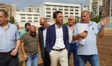شبيب زار ملعب بيروت البلدي واطلع على انطلاق ورشة إعادة تأهيله