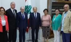 الرئيس عون استقبل وفداً من لجنة مهرجانات بيبلوس الدولية