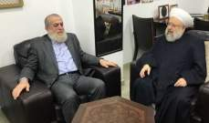 """الشيخ حمود استقبل وفداً من حركة """"الجهاد الإسلامي"""" في غزة"""