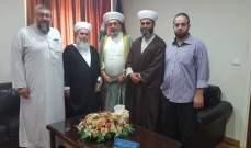 وفد من هيئة علماء المسلمين في صيدا زار المفتي سوسان وحمود والبزري