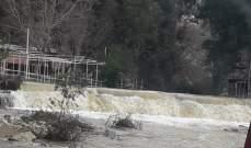 النشرة: إرتفاع منسوب نهر الحاصباني نتيجة تساقط الأمطار