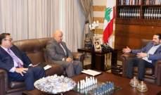 الحريري بحث مع كومارجا في المشاريع الممولة من البنك الدولي