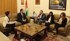 دبور عرض والسفير الفرنسي أوضاع الفلسطينيين في لبنان