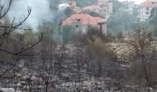 إخماد 3 حرائق أعشاب مختلفة وحريق رابع امتد ليطال منزلا مهجورا في سوق الغرب