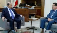 الرئيس عون استقبل نقولا تويني في قصر بعبدا
