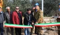 اليونيفيل الإيطالية تضيء شوارع مجدلزون على الطاقة الشمسية