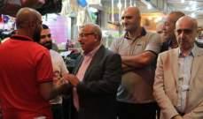 أسامة سعد جال في أسواق صيدا متفقدا أحوال التجار والناس والحركة فيها
