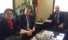 جريصاتي عرض لتفعيل التعاون والدعم من UNDP لوزارة البيئة