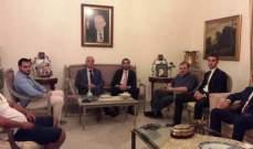 """البزري عرض التطورات السياسية والإقتصادية مع وفد """"حركة شباب لبنان"""""""