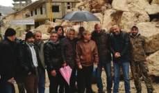 اللواء خير أشرف على رفع الأضرار وفتح الطرقات في المناطق كافة