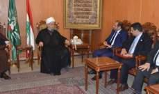 عبد الأمير قبلان استقبل سفير الامارات ووفد من تجمع العلماء المسلمين