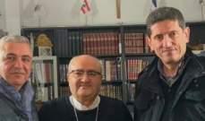 النائب إسحق زار أبرشية فرنسا المارونية