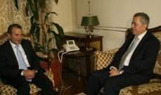 باسيل بحث مع السفير السوري ملف الانروا