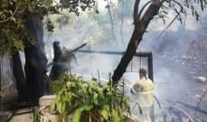 اندلاع حريق على جسر عرقة عكار