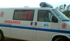 الدفاع المدني: جريح إثر حادث سير بين سيارة ودراجة نارية في بشارة الخوري