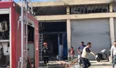 إخماد حريق داخل مشغل لطلاء السيارات في زحلة وحريق داخل سيارة بالقبيات