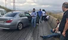 النشرة: جريح بحادث سير بين شاحنة وسيارة على طريق المصيلح مفرق الكيان