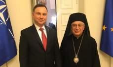 البطريرك العبسيّ يلتقي رئيس بولونيا في وارسو