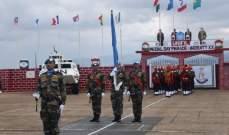 قائد القطاع الشرقي في اليونيفيل يقلد أوسمة السلام للكتيبة الهندية والوحدة الكازاخستانية