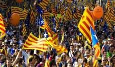 تظاهرة ببرشلونة احتجاجا على استمرار اعتقال 9 انفصاليين كتالونيين