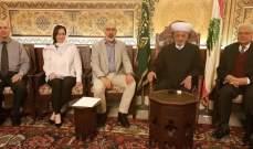 المفتي دريان استقبل وفد كلية اللاهوت المعمدانية العربية ومستشار الحريري