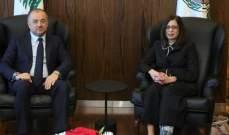 بو صعب استقبل سفيرة قبرص وتلقى كتاب تهنئة من محمد بن سلمان