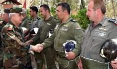 وزير دفاع سوريا تفقد تشكيلات الجيش بالقلمون بتوجيهات من الأسد وأثنى على جهودهم