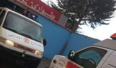 جريح جراء اصطدام سيارة بدراجته النارية على طريق عام عين دارة