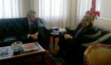 جريصاتي استقبل سفير تركيا مودعا: لا تلكؤ بملف ملهى رينا ونحن ضمن المهل